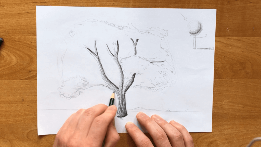 Malvorlage Baum Kostenlos 01 Art Simple Drawings